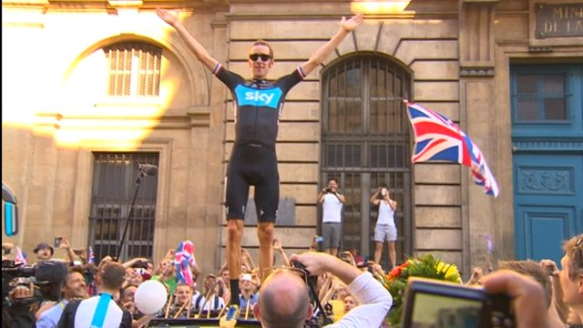 Tour de France winner, Bradley Wiggins