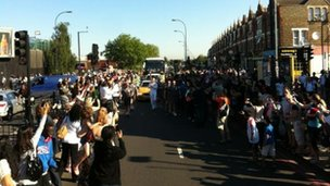 Crowds in Bromley