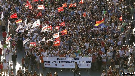 March in Valencia, 19 Jul 12