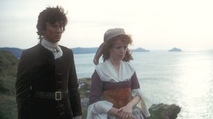 Robin Ellis and Angharad Rees in Poldark