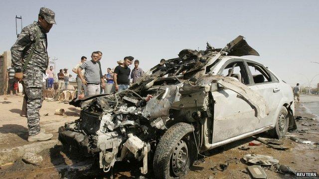Bombed car in Kirkuk