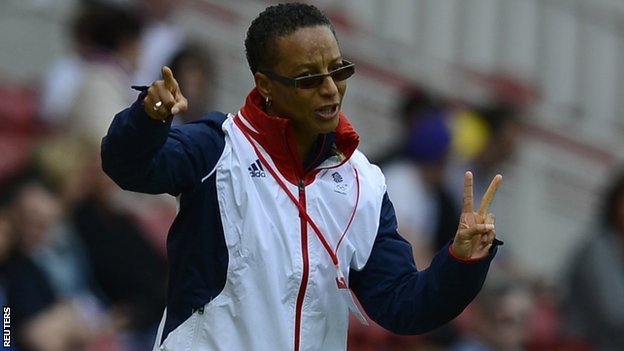 Team GB coach Hope Powell
