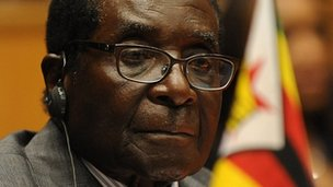 Zimbabwe's President Robert pictured on 14 July 2012