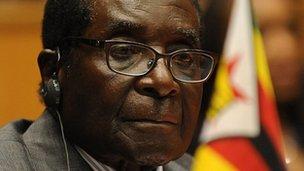 Zimbabwe's President Robert pictured on 14 July 2012