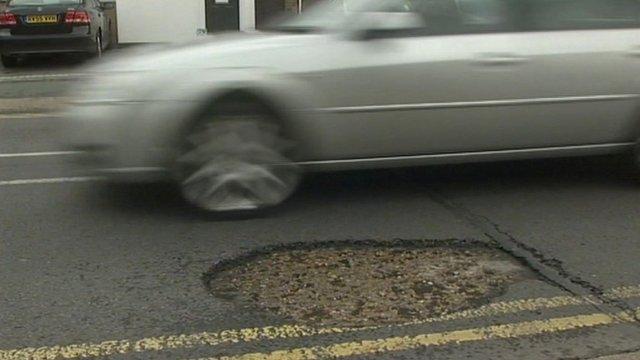 Potholed road