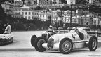 Rudolf Caracciola in a Mercedes Benz W25 on the narrow streets of Monaco