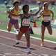Moroccan athlete Nawal El Moutawakel wins the women's 400m hurdles at the Los Angeles Memorial Coliseum during the Summer Olympics, August 1984. (Photo by Steve Powell/Getty Images)