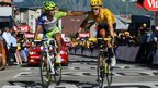 Vincenzo Nibali and Bradley Wiggins finish stage 11 together