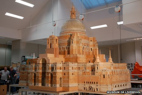 Model of Edwin Lutyens' cathedral