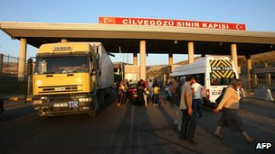Border post at Cilvegozu in southern Turkish province of Hatay. 20 July 2012