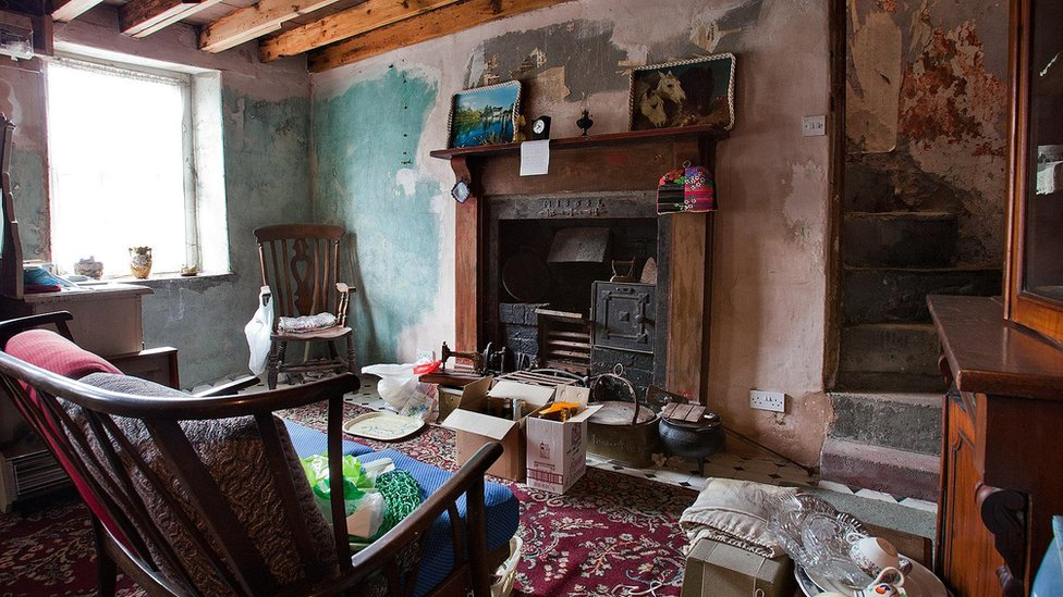 Inside The Living Area Of Cwmdare House Rhondda Cynon Taf