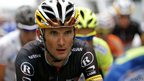 Frank Schleck riding in the 191 km and fourteenth stage of the 2012 Tour de France.