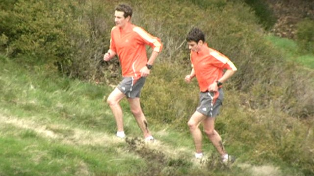 The Brownlee brothers in training