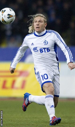 Andriy Voronin is one of a string of international players with Dynamo Moscow