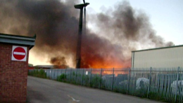 Fire at a plastics recycling unit on Helsinki Road in Hull