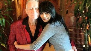 Hugh Hefner and Sherlyn Chopra
