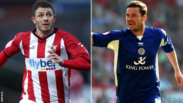 Jamie Cureton (left) and Matt Oakley