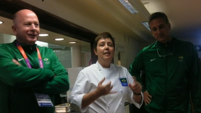 Renowned chef cooks for Brazilian Olympic athletes