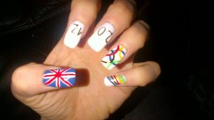 Katy B&#039;s nail art for London 2012