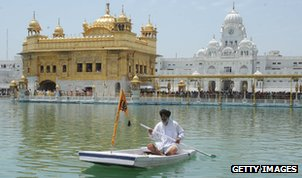 Boatman and Golden Temple, Amritsar
