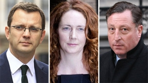 Andy Coulson, Rebekah Brooks and Neville Thurlbeck