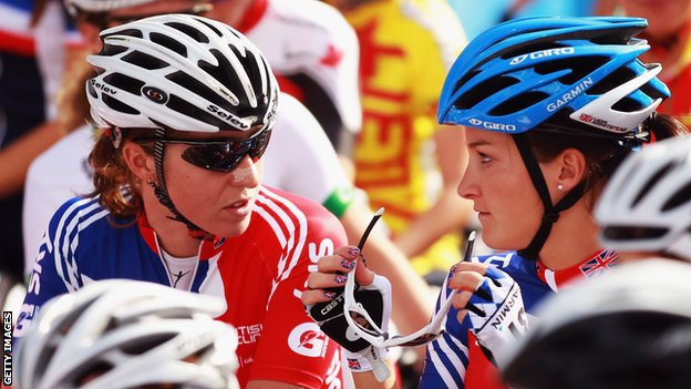 Nicole Cooke and Lizzie Armitstead
