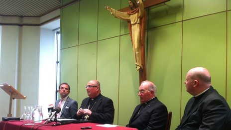 Archbishop Tartaglia at the news conference