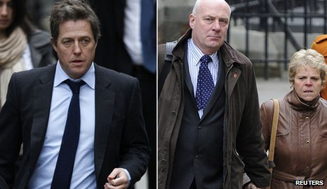 Hugh Grant and parents of Milly Dowler