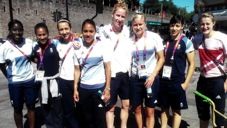 Team GB women's football team in Cardiff