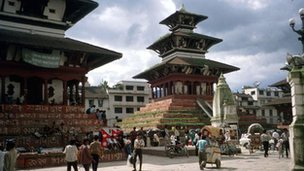 A general view of Kathmandu (archive shot)
