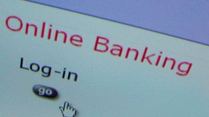 Online banking screenshot