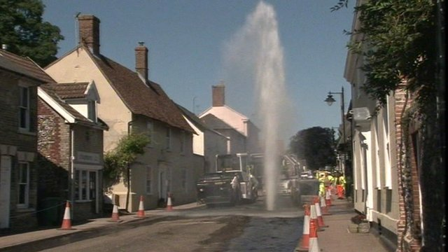 Water plume in Ixworth
