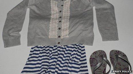 Clothes found at Anne Port slipway