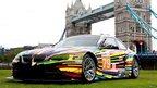 BMW M3 GT2 car transformed by Artist Jeff Koons
