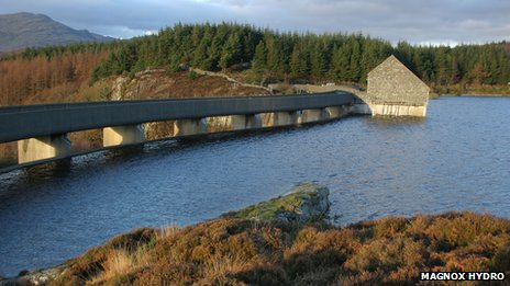 Water used by Maentwrog Hydroelectric Power Station