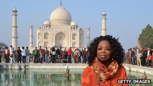 Oprah Winfrey at the Taj Mahal