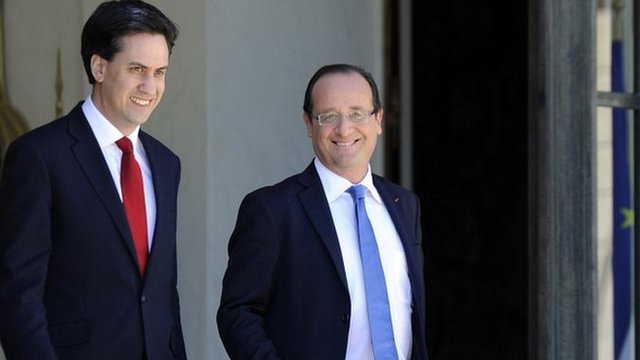 Ed Miliband and Francois Hollande