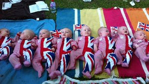 Olympic babies chilling out