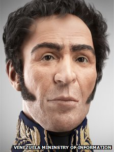 Simon Bolivar 3-D face reconstruction