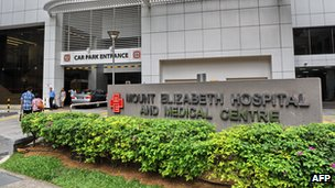 Mount Elizabeth hospital in Singapore