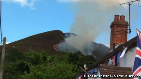 Fire in the Stiperstones area