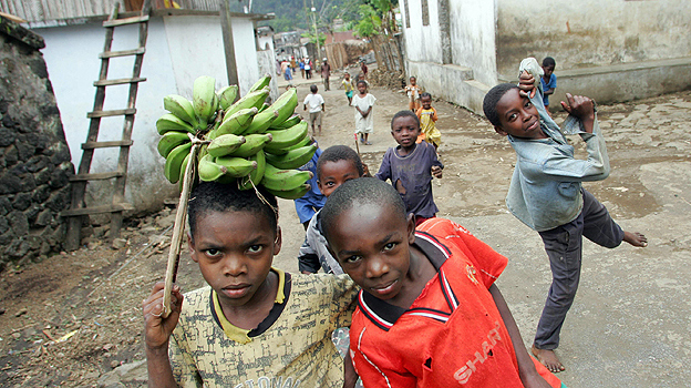 Children in a village on Mutsamudu, Comoros islands