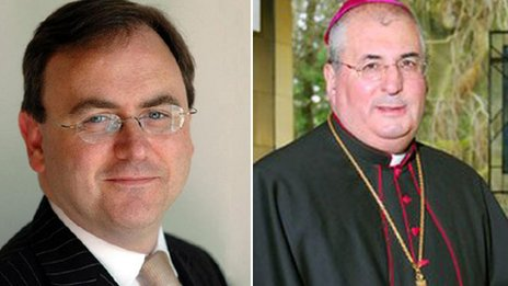 David Cairns and Archbishop Philip Tartaglia