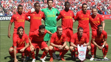Liverpool FC team before their recent game in Toronto