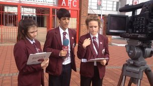School Reporters from Macmillan Academy