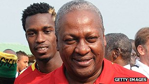 Ghanaian interim president, Mr Mahama