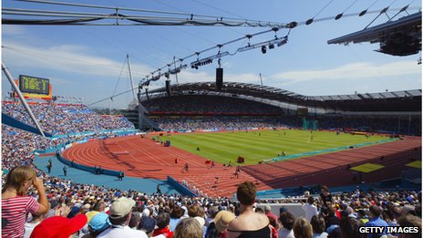 City of Manchester Stadium during the 2002 Commonwealth Games