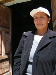 Maximila Aguilar, the mother of Cesar Medina, a 16-year-old student who was killed by a bullet during clashes between Cajamarca protesters and the police