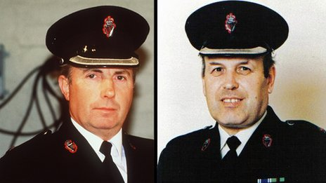 Chief Supt Harry Breen and Supt Bob Buchanan