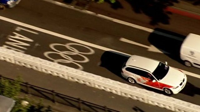 Olympic BMW using Zil lane